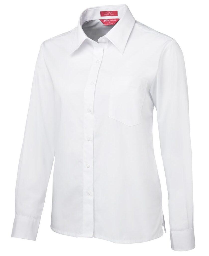 JB's Wear Ladies White Poplin Shirt