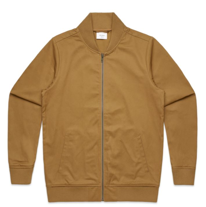 AS Colour Mens Tan Bomber Jacket