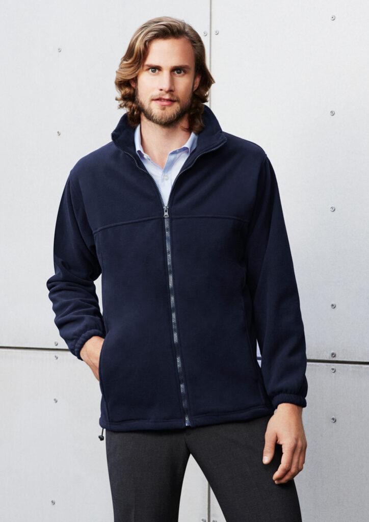 Biz Collection Mens Plain Micro Fleece Jacket