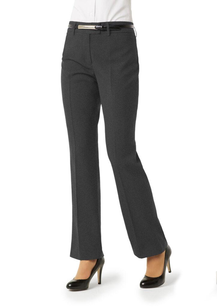Biz Collection Womens Classic Flat Front Pants