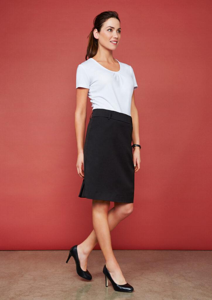 Biz Collection Ladies Detroit Flexi-Band Skirt