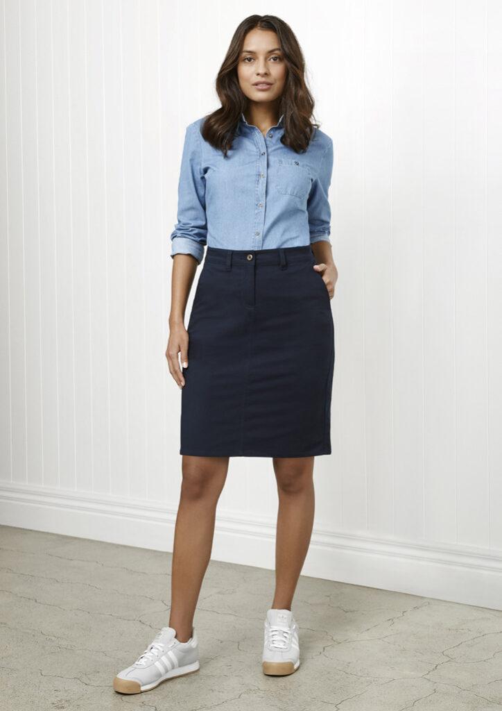 Biz Collection Womens Lawson Chino Skirt