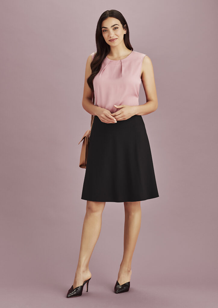 Biz Corporates Womens Bandless Flared Skirt