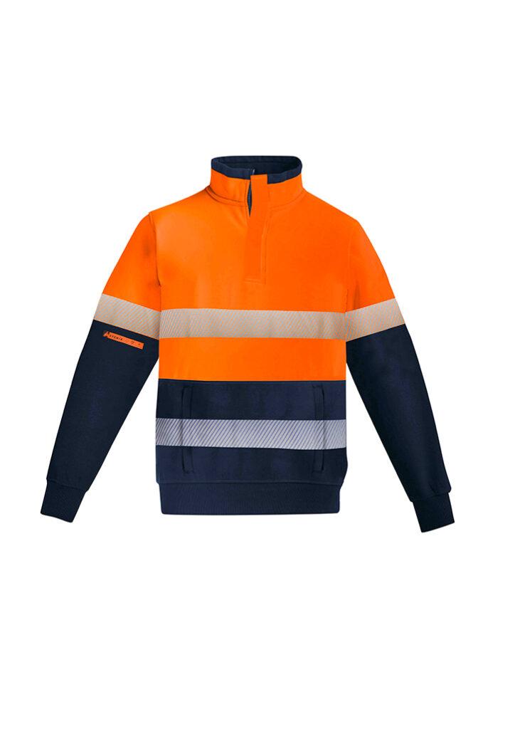 Syzmik Mens Orange Zip Fleece